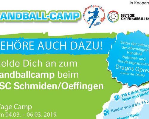 Jetzt anmelden zum Handball-Camp 2019!