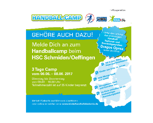 Handball-Camp in Schmiden mit Dragos Oprea